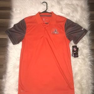 Brand New. Nike NFL Cleveland Browns SM Polo